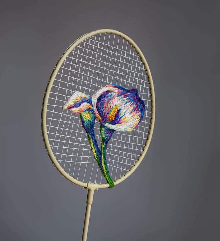 danielle clough embroidery racket 1