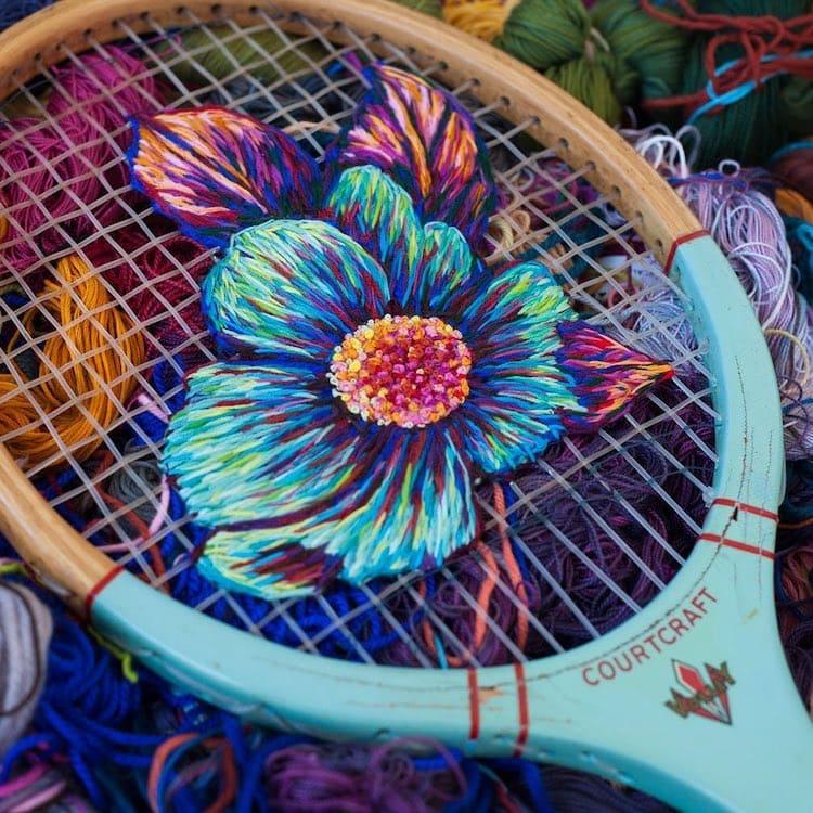 danielle clough embroidery racket 11