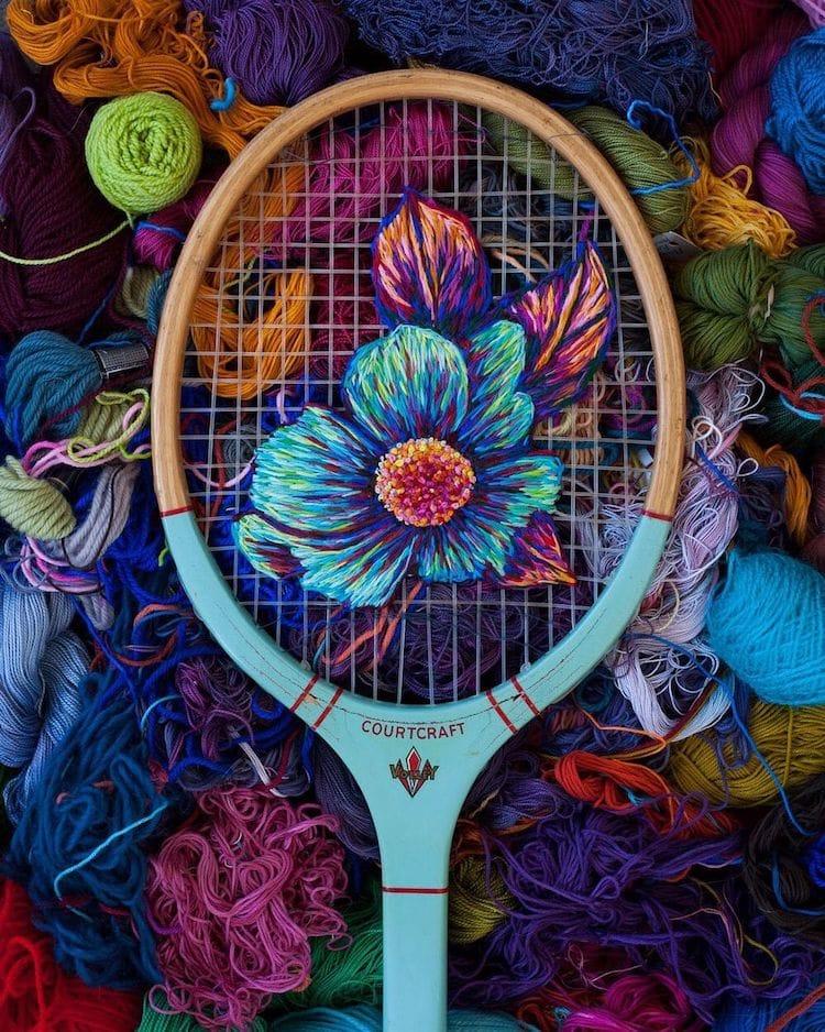 danielle clough embroidery racket 12