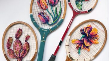 danielle clough embroidery racket 13