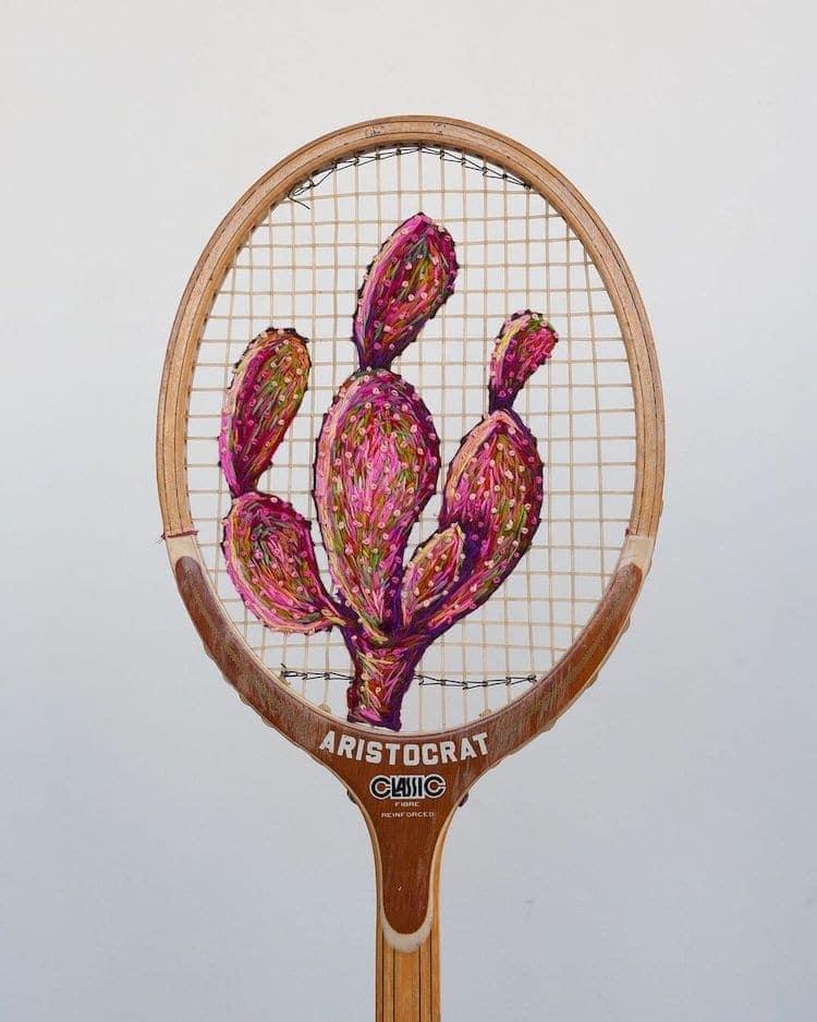 danielle clough embroidery racket 16