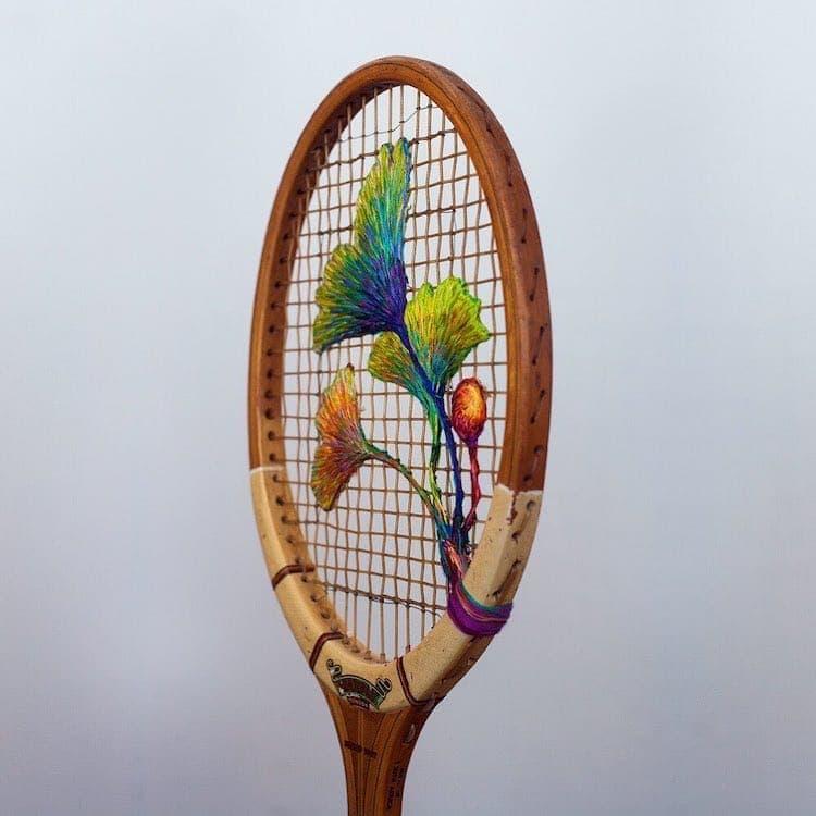 danielle clough embroidery racket 18