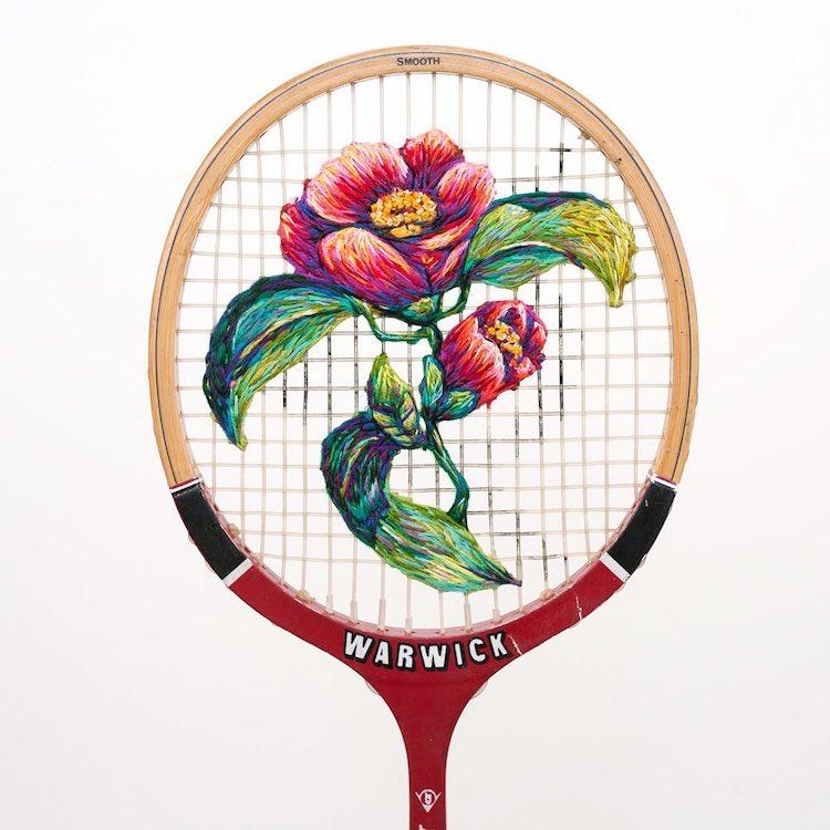danielle clough embroidery racket 20
