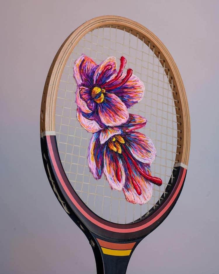 danielle clough embroidery racket 21