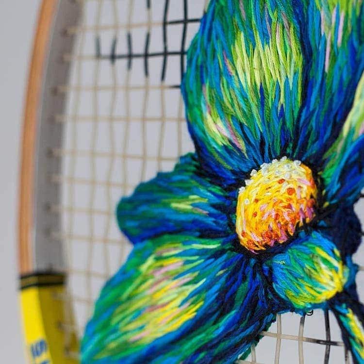 danielle clough embroidery racket 4
