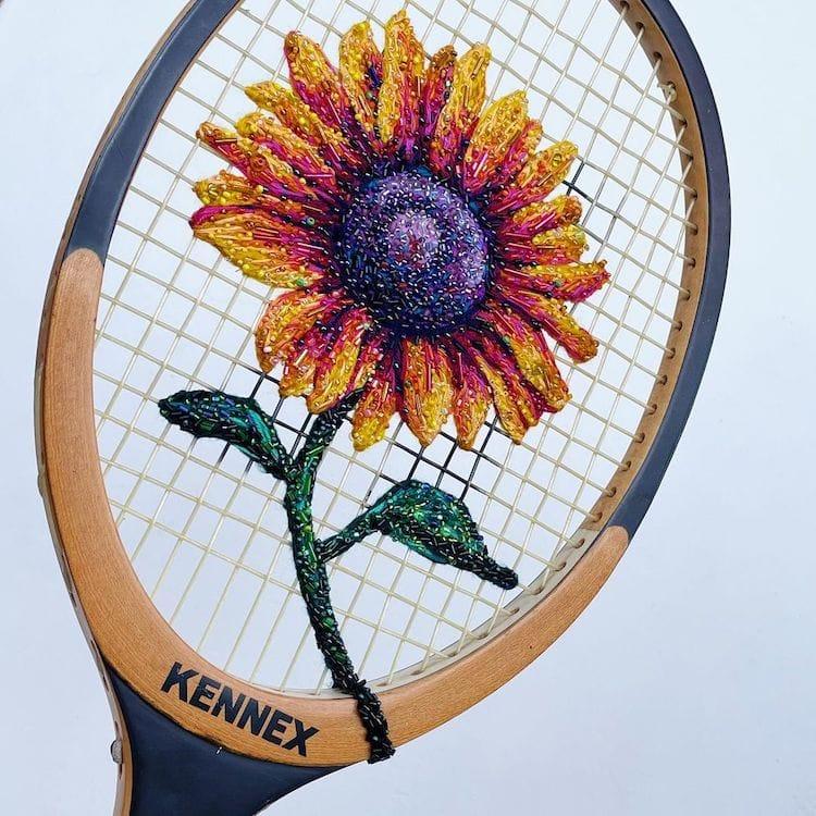 danielle clough embroidery racket 5