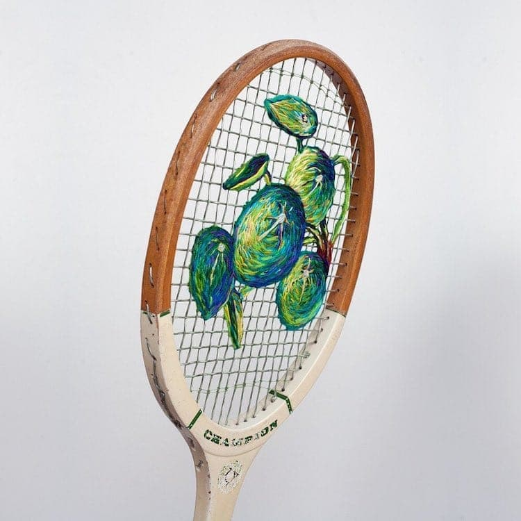 danielle clough embroidery racket 6