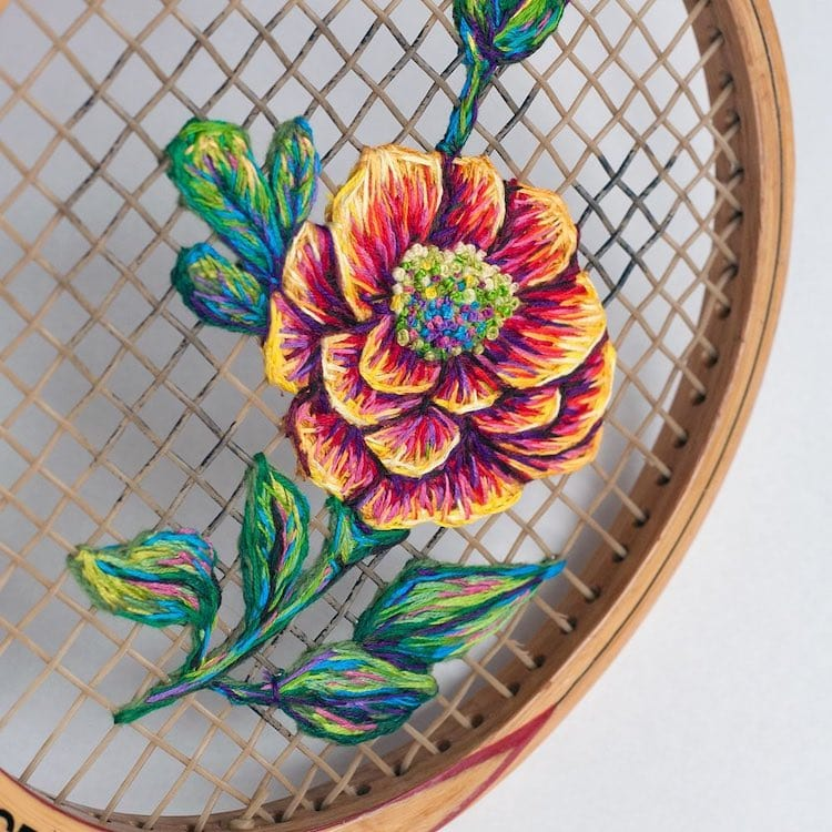 danielle clough embroidery racket 7