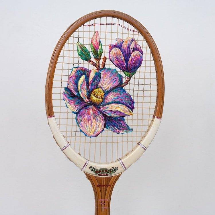 danielle clough embroidery racket 9