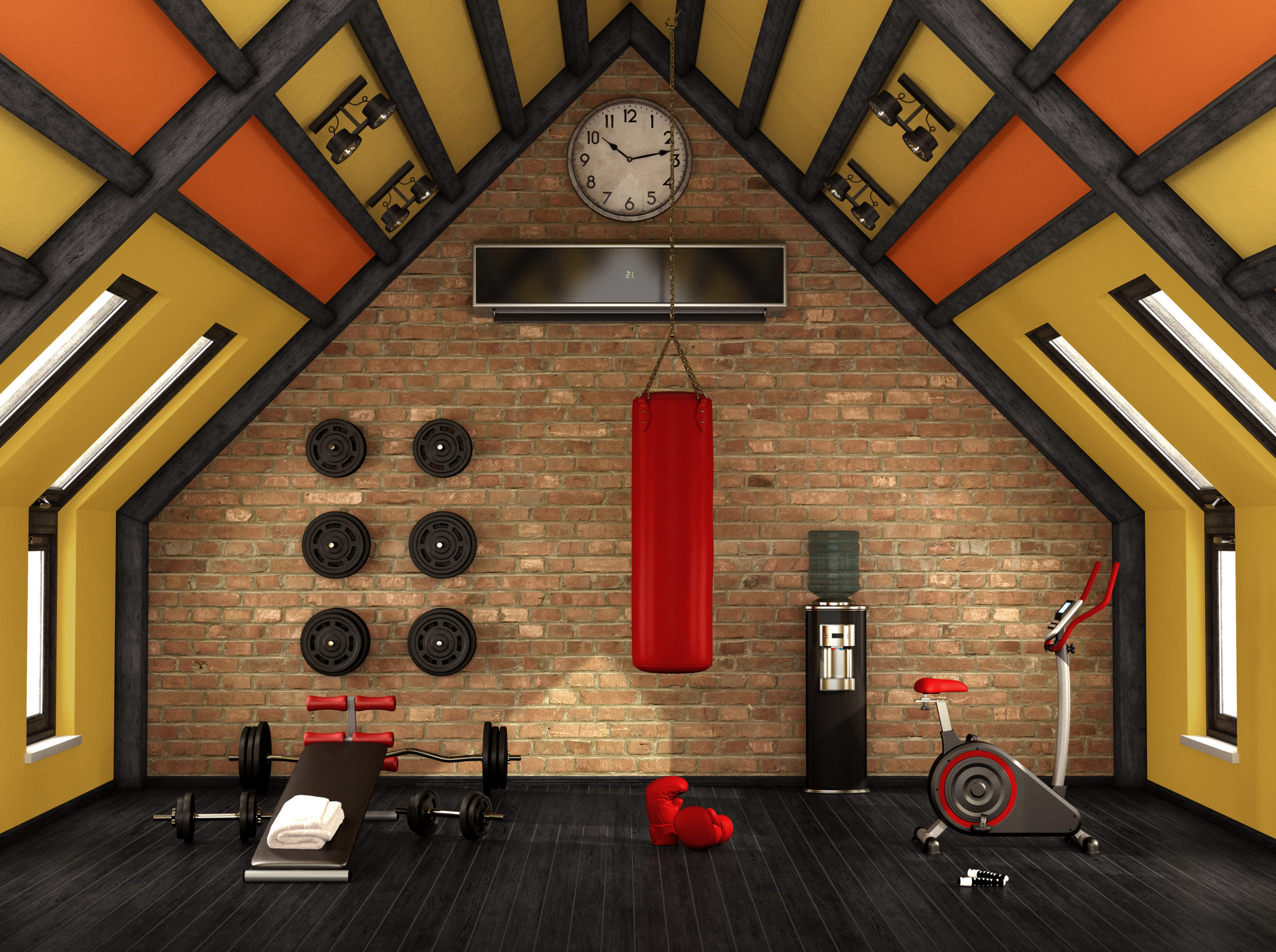 home gym in the mansard PXS2Y49