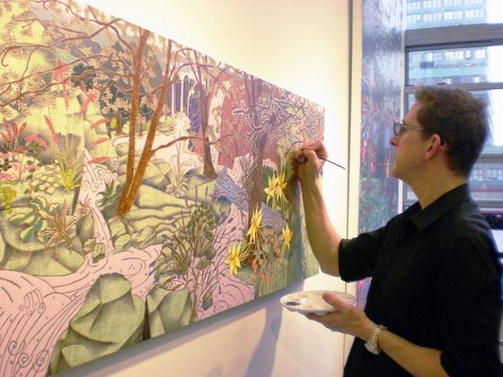in studio painting eade egg tempera