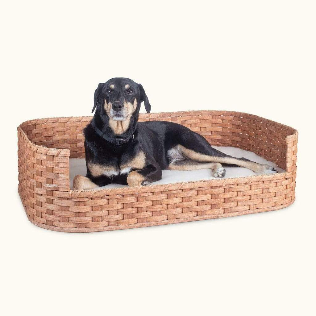 pet beds large wicker basket dog bed amish handmade woven wood matching