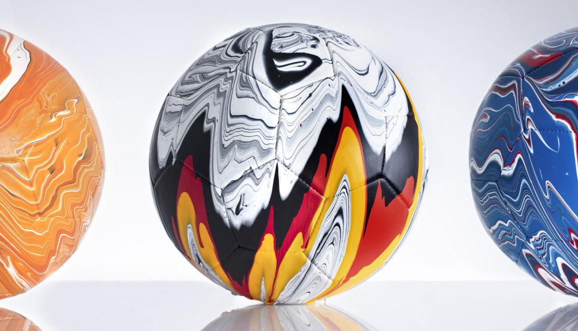Craig Black x The Fusion Series Footballs Acrylic Fusion Football Art Installation 00 Compilation