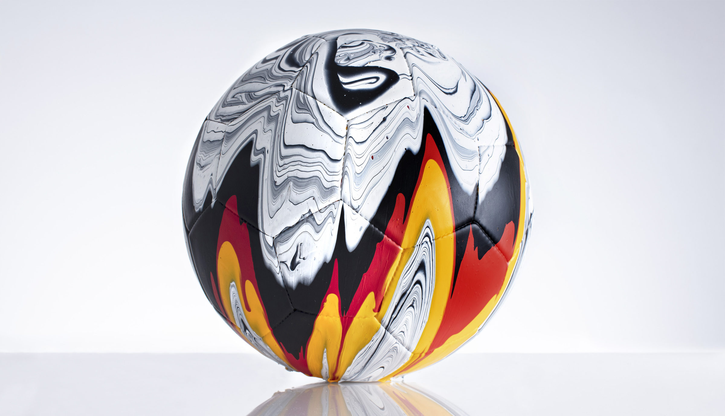 Craig Black x The Fusion Series Footballs Acrylic Fusion Football Art Installation 01 Germany