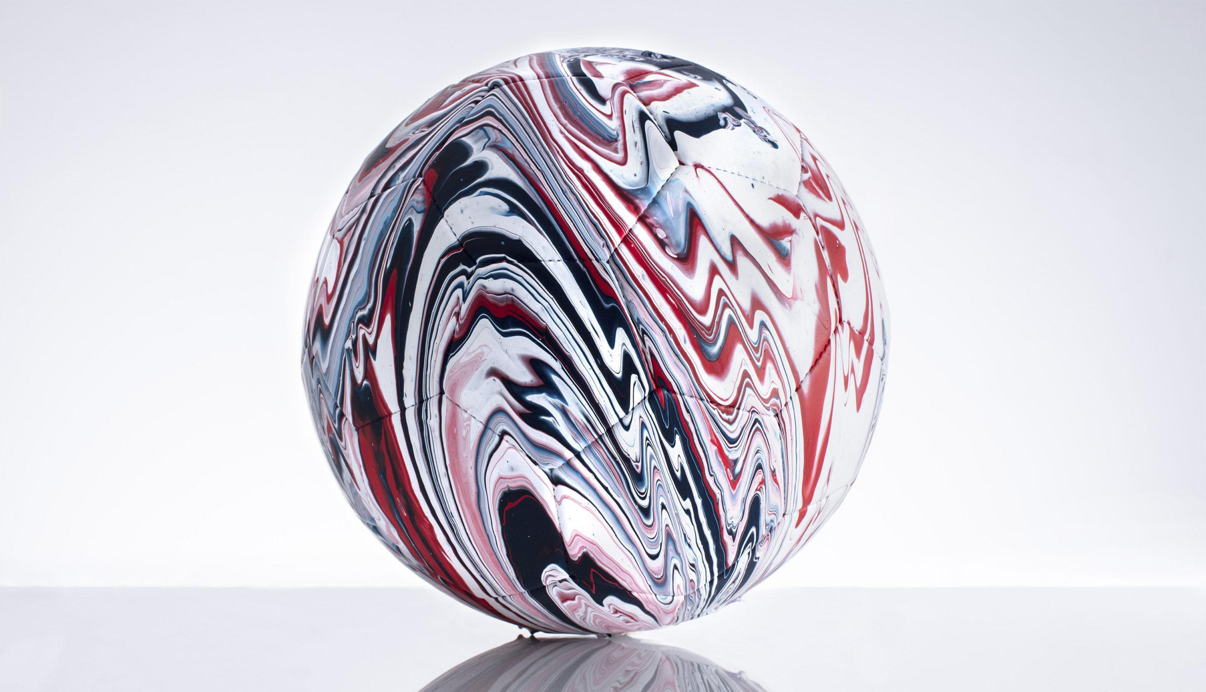 Craig Black x The Fusion Series Footballs Acrylic Fusion Football Art Installation 04 England