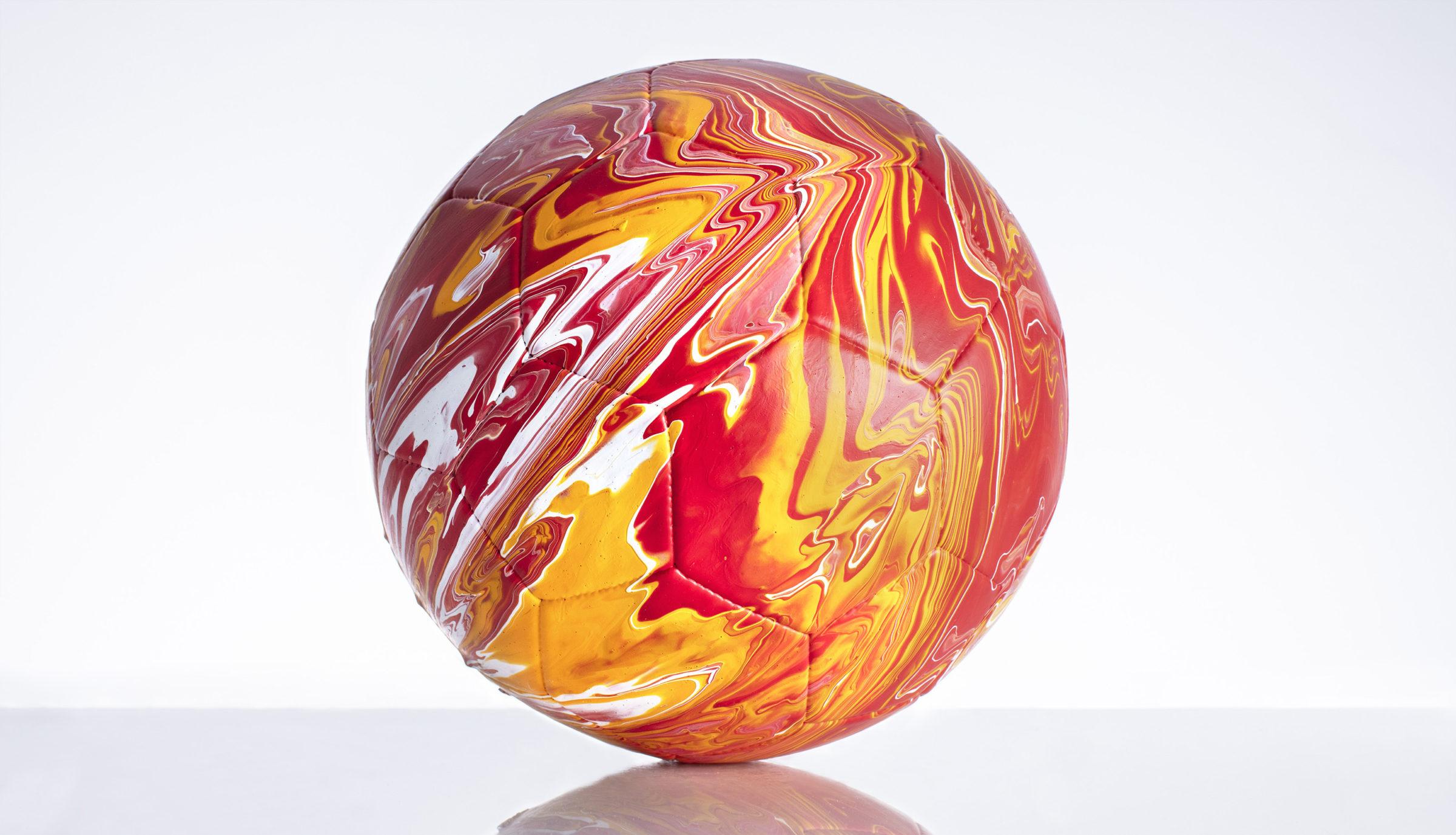 Craig Black x The Fusion Series Footballs Acrylic Fusion Football Art Installation 05 Spain