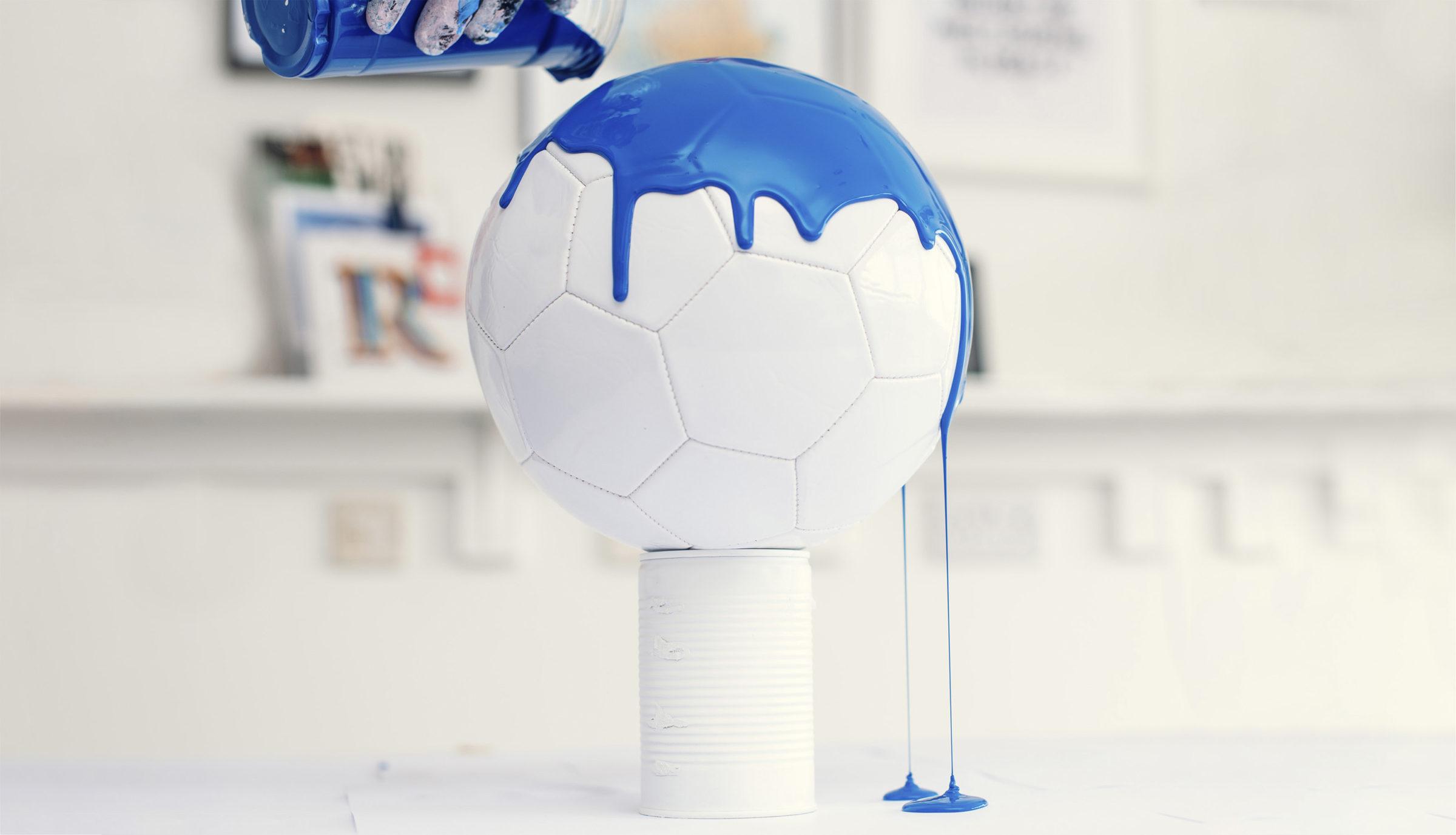 Craig Black x The Fusion Series Footballs Acrylic Fusion Football Art Installation 12 France