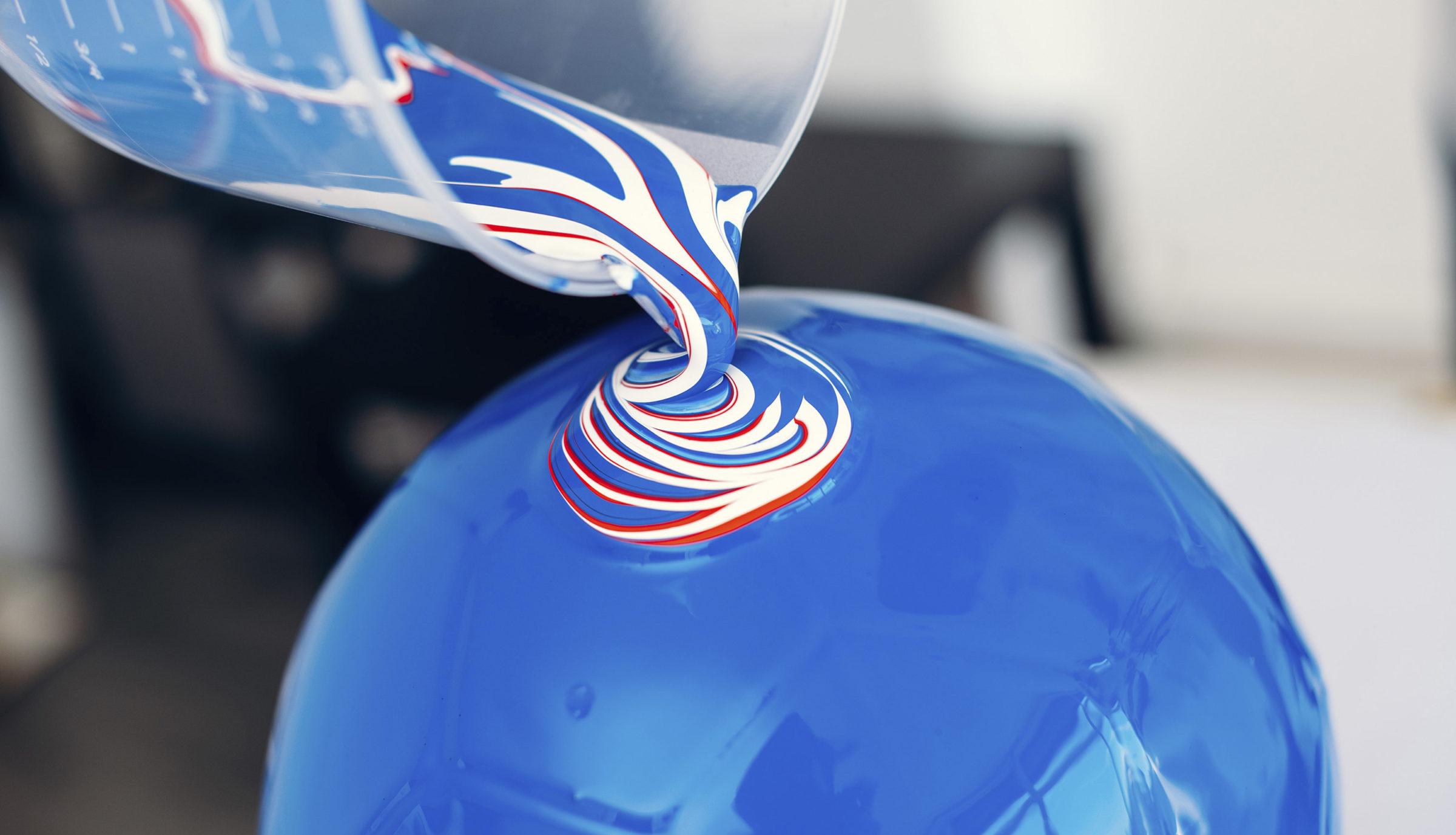 Craig Black x The Fusion Series Footballs Acrylic Fusion Football Art Installation 13 France