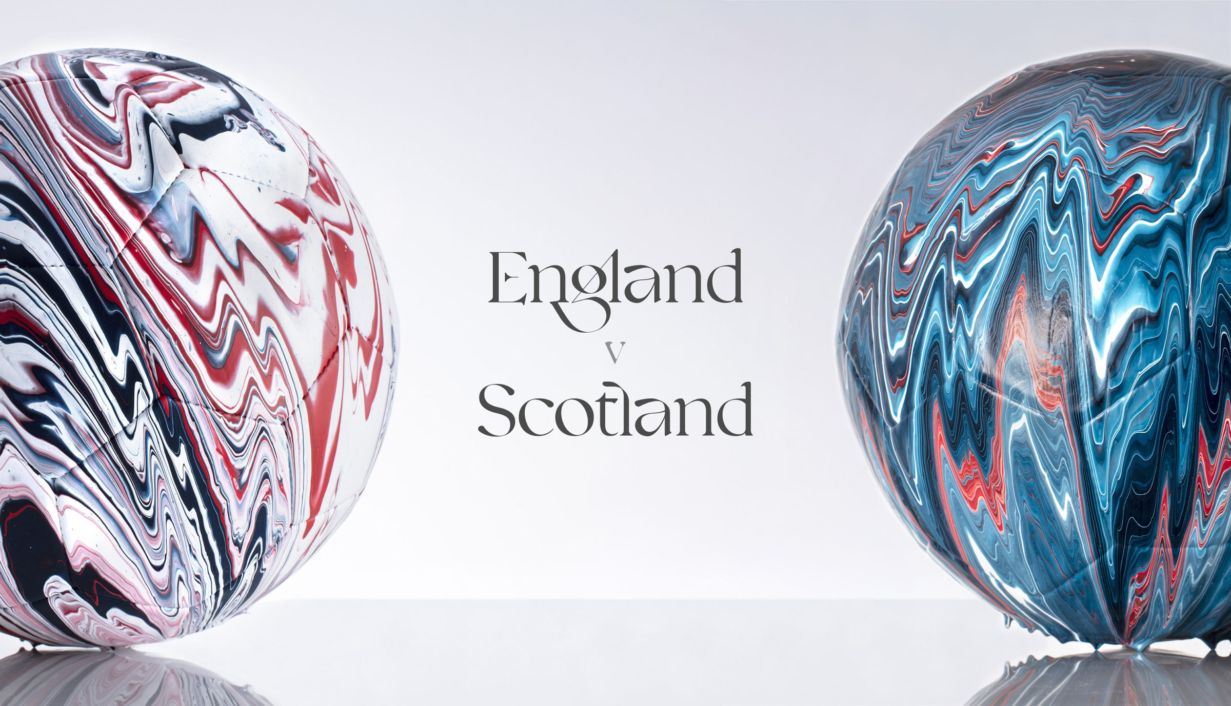 Craig Black x The Fusion Series Footballs Acrylic Fusion Football Art Installation 15 England v Scotland