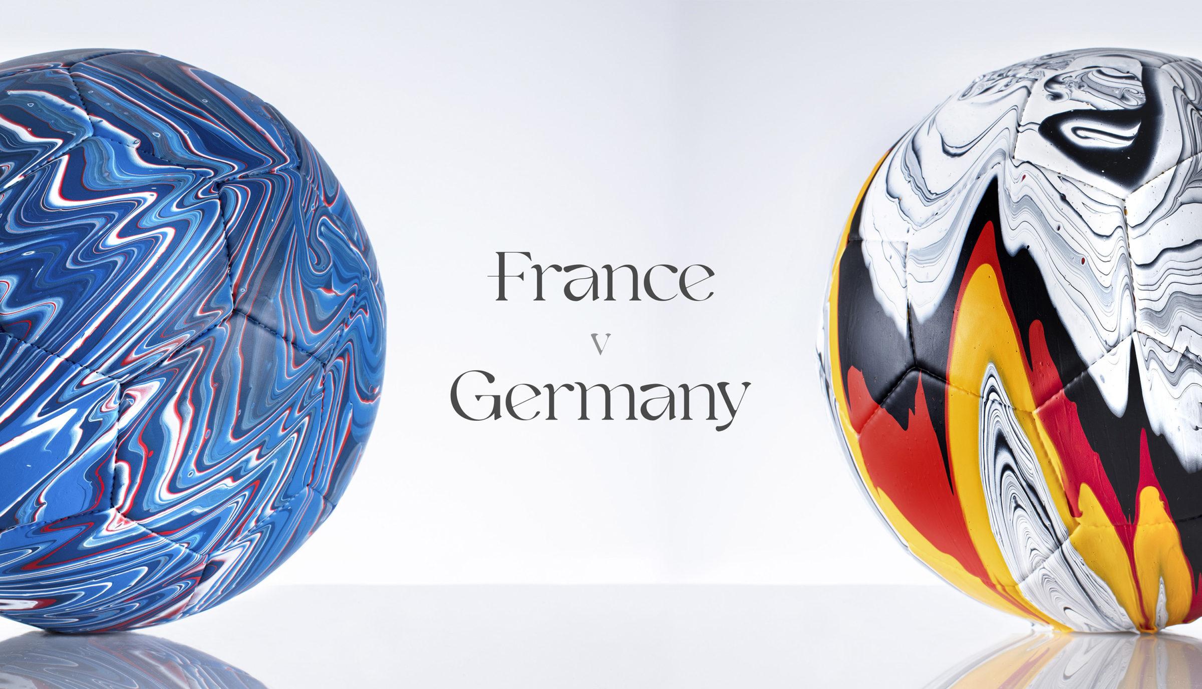 Craig Black x The Fusion Series Footballs Acrylic Fusion Football Art Installation 16 France v Germany