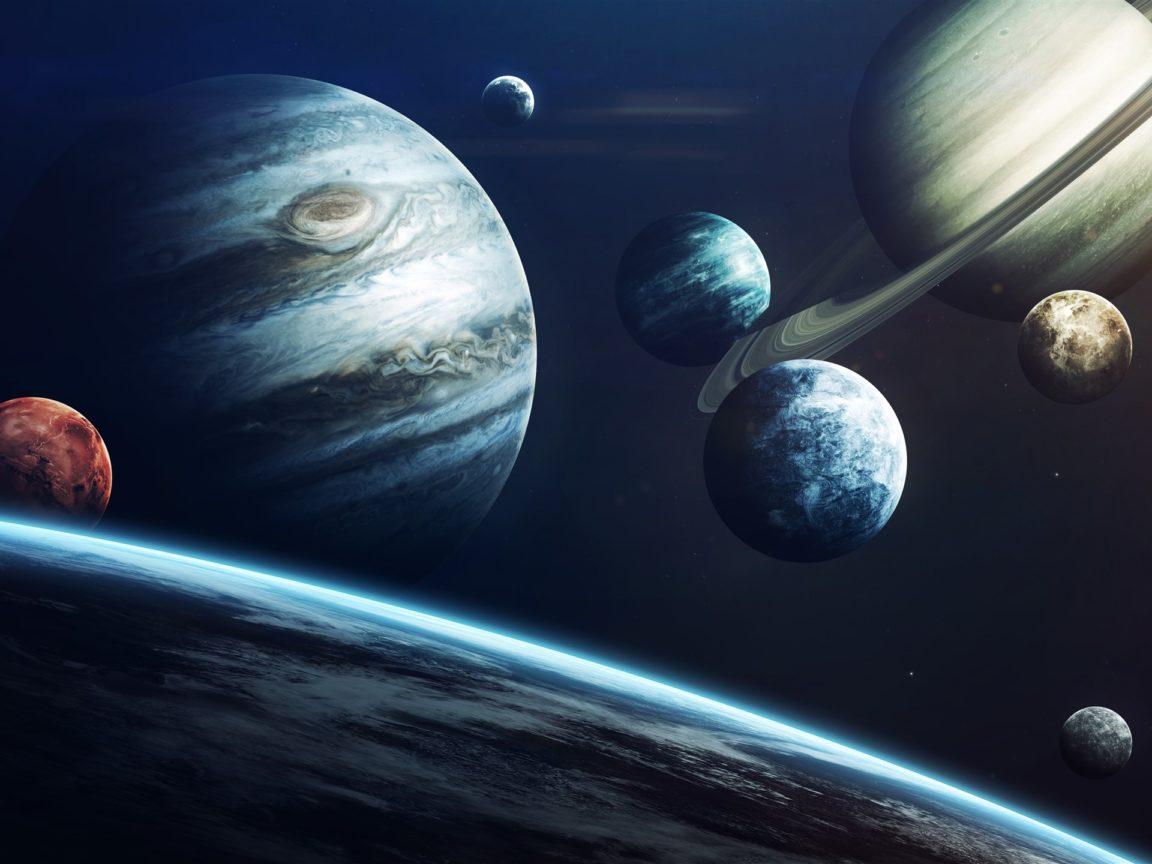 Solar system planets jupiter universe 1920x1440