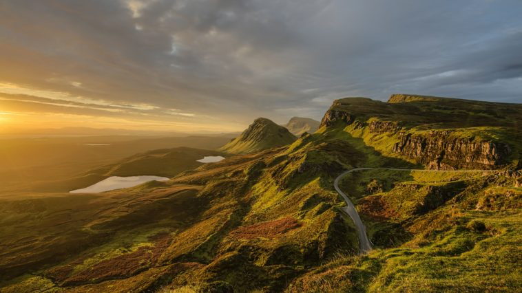bird's eye photography of winding road on mountain