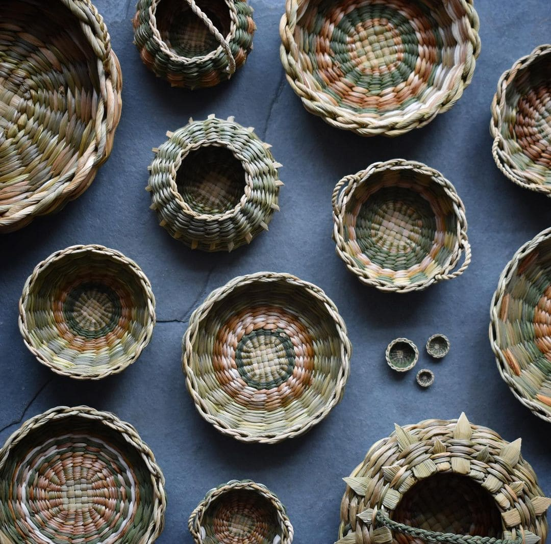 foraged fibers woven baskets 13