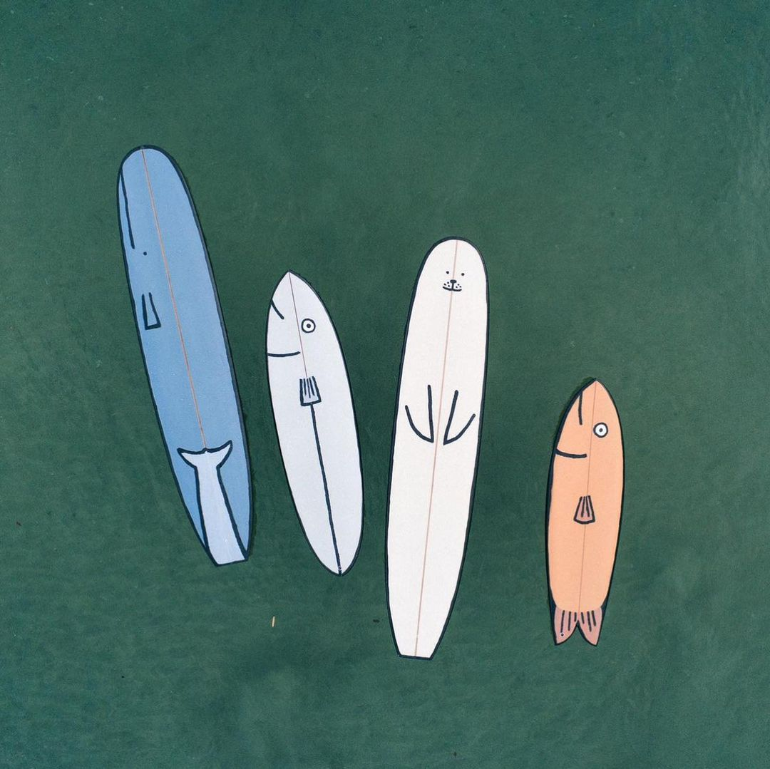 Jean Jullien surfboards 3