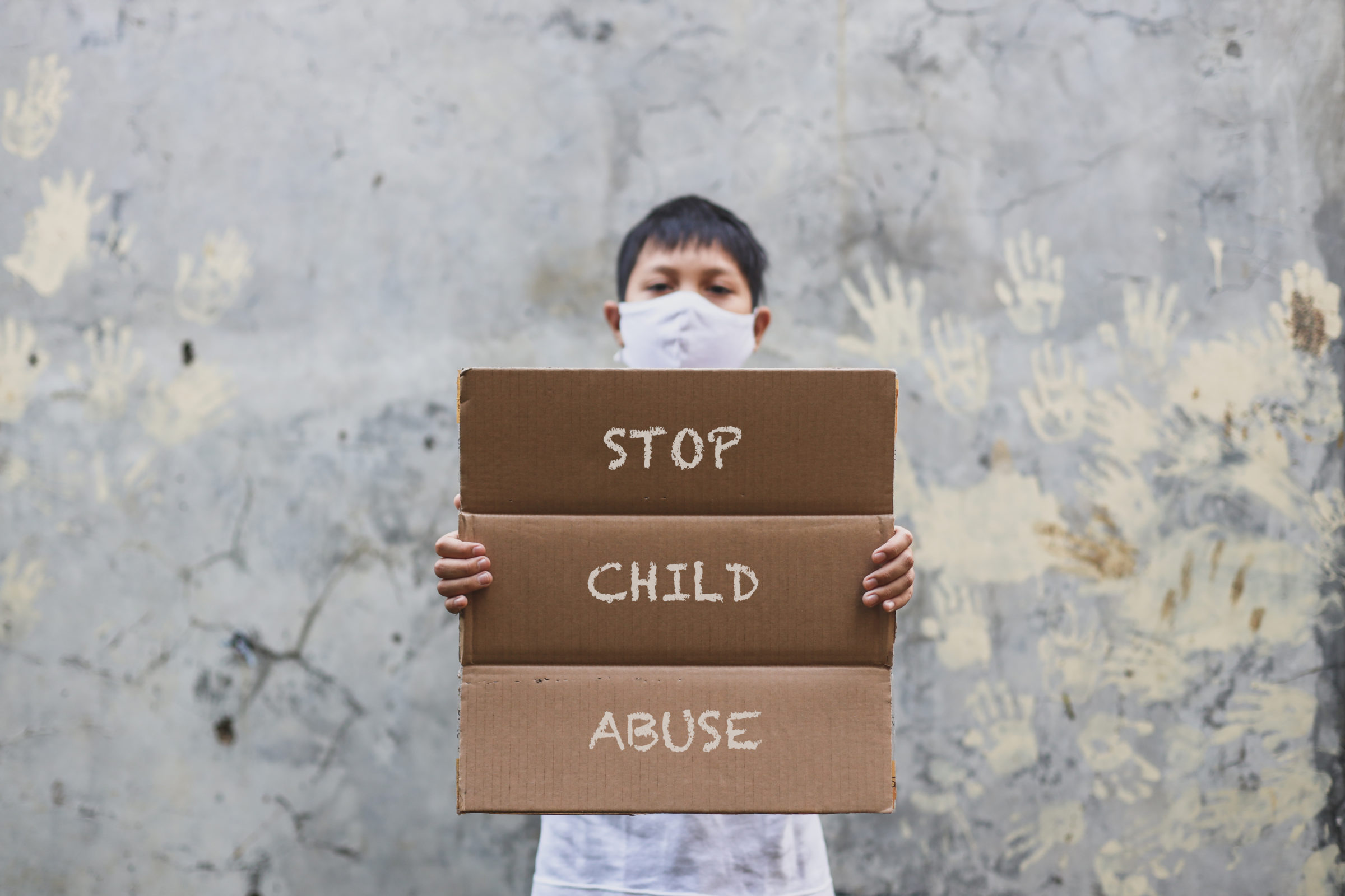 a child protest for child abuse YE4VRNW