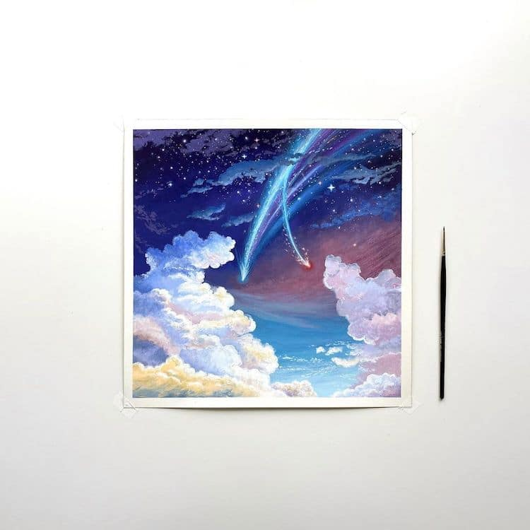 cathy camille gouache cloud paintings 10