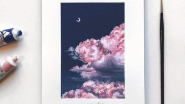 cathy camille gouache cloud paintings 11