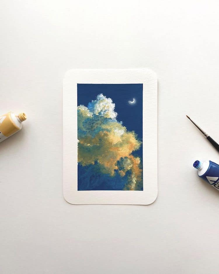 cathy camille gouache cloud paintings 2