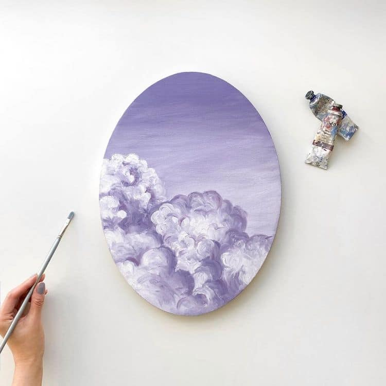 cathy camille gouache cloud paintings 4
