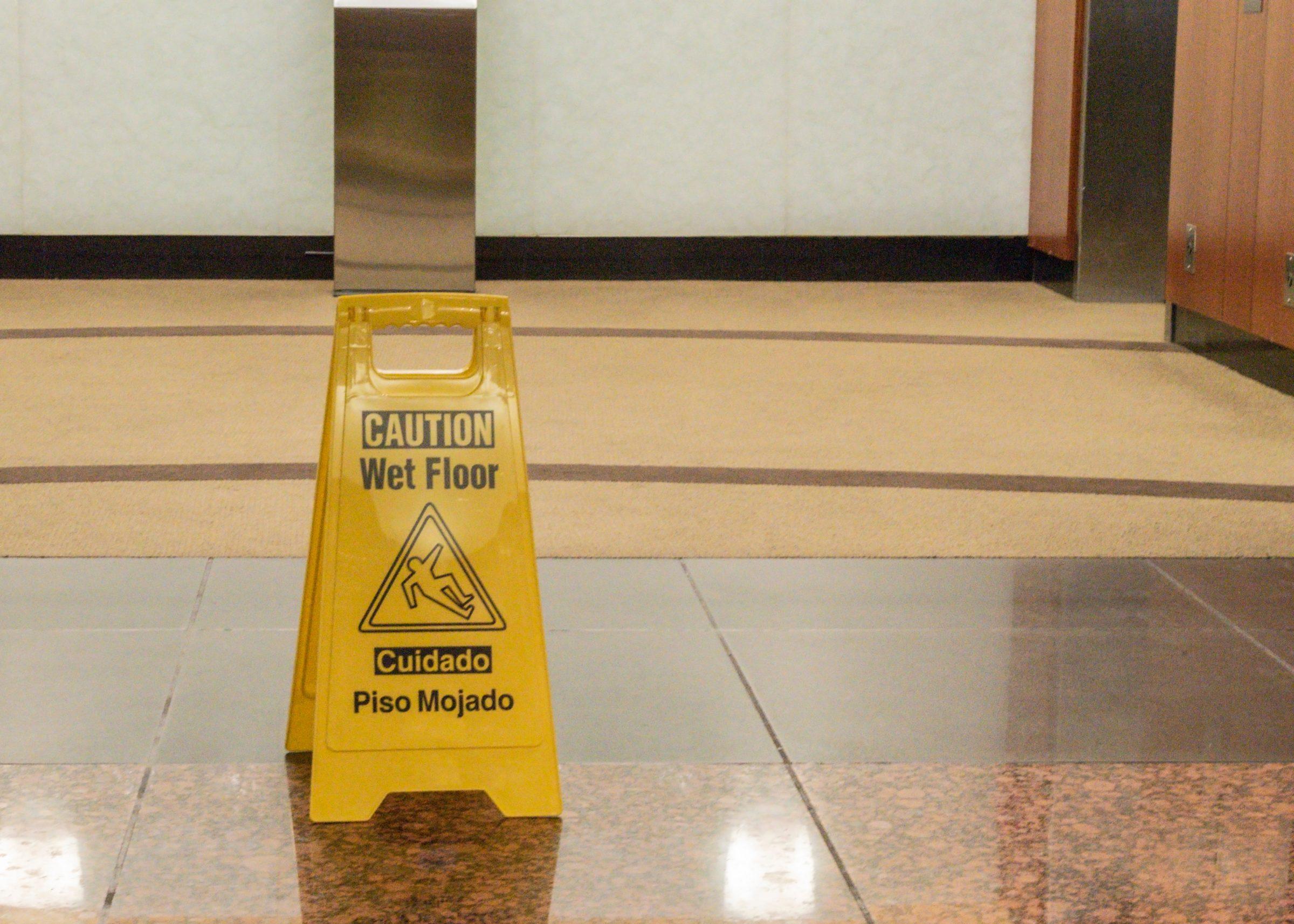 office lobby wet floor LQLLEAM